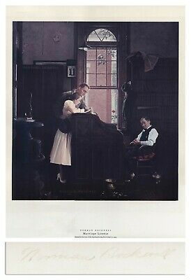 $ CDN1275.90 • Buy Marriage License Norman Rockwell Large Signed Print
