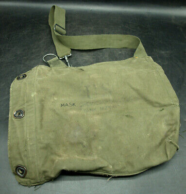 $17.95 • Buy Vintage Us Military Army M25a1 Field Protective Gas Mask Bag (f42)