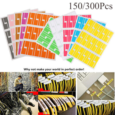 Network Waterproof Identification Tags Cable Labels Fiber Organizers Stickers • 5.27£