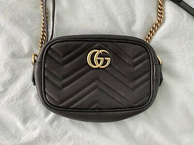 AU1099 • Buy Gucci Marmont Matelassé Mini Bag Black