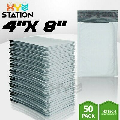 $7.50 • Buy 50 PCS  #000 4x8 (4x7) Poly Bubble Mailers Padded Envelope Shipping Supply Bags