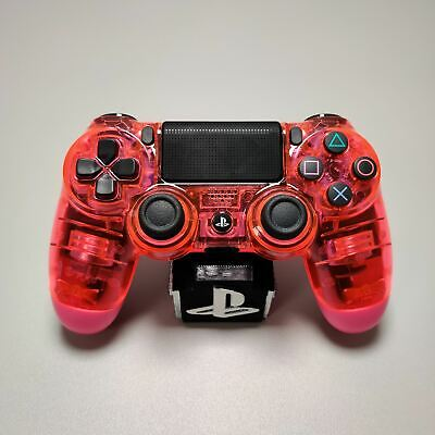 AU133.18 • Buy Official PS4 Controller V2 Custom Crystal Transparent/Clear Pink Themed