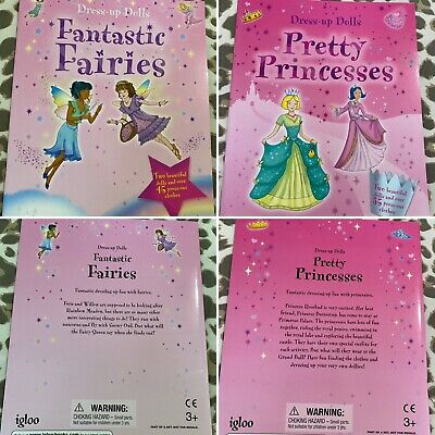 Igloo X2 Dress Up Pop Up Fashion Dolls Activity Book Princesses & Fairies BN • 14.99£