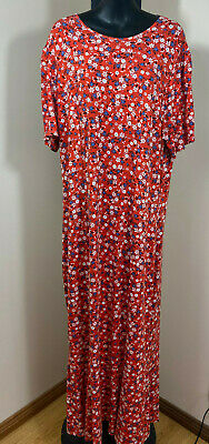 AU34.99 • Buy ASOS Long Floral Red Summer Dress Size 20 Plus Curve Free Shipping New With Tags