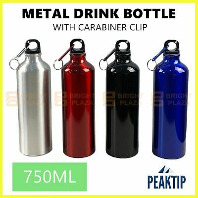 AU13.95 • Buy 750ml Aluminium Drink Water Bottle Outdoor Sports Gym Cycling Camping Metal Clip