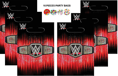 HALL WWE Party 16-Pieces Wrestling Loots Treat Bags Smash Birthday Party Supplie • 18.63£