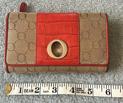 AU35.20 • Buy Oroton Small Red Signature Clutch Purse Wallet