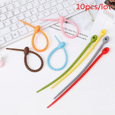 10pcs Bag Ties Cable Zip Tie Twist Multi-use Bag Clip Bread Tie Food Saver Cw • 2.97£