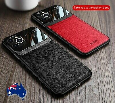 AU9.95 • Buy Hybrid Leather Protective Phone Slim Case Cover For IPhone 12 11 Pro Max Mini X