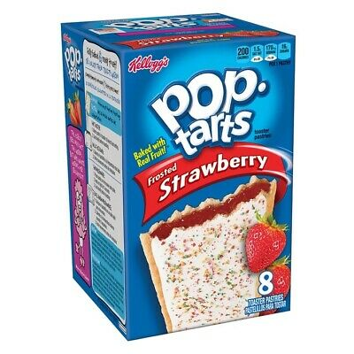 Kellogg's Pop Tarts Frosted Strawberry Sensation 8 X 50g Free Tracked Delivery • 7.50£