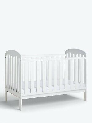 White Todder Bed Anna Dropside Cot, White • 70£