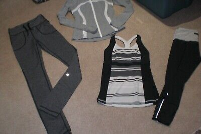 $ CDN84 • Buy Lot Of Lululemon Will Pants, Rare Crops, Define Jacket And Tank Sz 6
