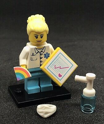 Lego Doctor Nurse Rainbow Thankyou NHS Worker Minifigure & Accessories Gift (a) • 9.99£