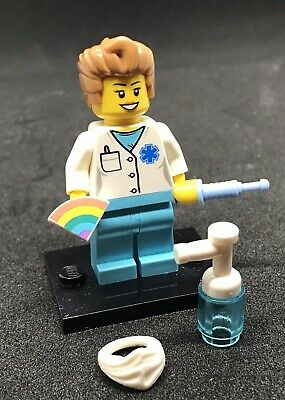 Lego Doctor Nurse Rainbow Thankyou NHS Worker Minifigure & Accessories Gift (q) • 9.99£