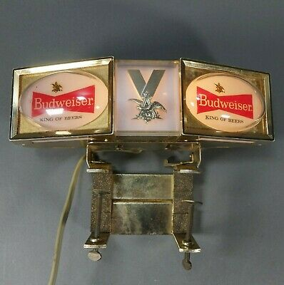 $ CDN63.57 • Buy Vintage Budweiser Light Cash Register Topper Sign Anheuser Busch