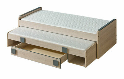 Double Bed Kid's Bed Teen Bed+ Bed Box Bed Oak 2 X Beds Loft • 280.40£
