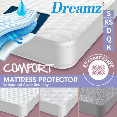 AU23.99 • Buy DreamZ Mattress Protector Topper Breathable Comfort Waterproof Cover ALL Size