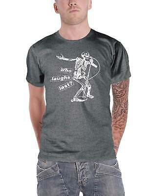 Rage Against The Machine T Shirt Who Laughs Last Band Logo Official Mens Grey • 16.95£