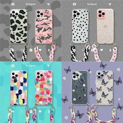 AU12 • Buy For IPhone 12 11 Pro Max XS XR 7 8 Girl's Women Luxury Chain Leopard Case Cover