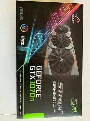 $ CDN1020.66 • Buy Nvidia GeForce GTX 1070 Ti Advanced 8GB DDR5 Graphics Card GPU Asus ROG Strx NEW