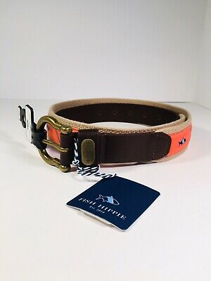 """$24.99 • Buy New Mens Belt By Fish Hippie 32"""" Adjustable With Tag"""