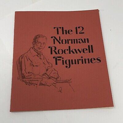 $ CDN14.29 • Buy The 12 Norman Rockwell Collection Porcelain Figurines BOOKLET BOOK Danbury Mint