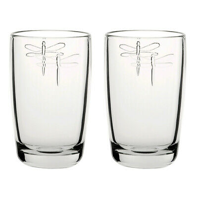 La Rochere Set Of 2 Libellule Highball Glasses, 40cl Drink Water Decorated Glass • 14.65£