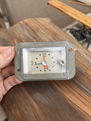 £18.11 • Buy Vintage Ford Motor #453 12volt Auto Clock. Industrial Modern 1950's Clean Lines