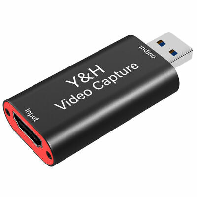 £9.99 • Buy HDMI To USB Video Capture Card HD 1080P 60fps Record For IPhone,PS4,Xbox One/360