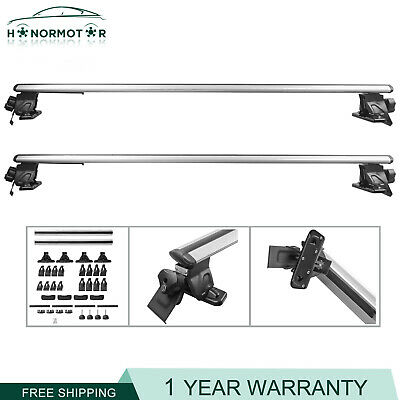 $83.79 • Buy 52  Aluminum Universal Top Cross Bar Roof Rack For Car SUV With Roof Rails New