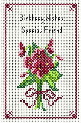 £6.25 • Buy Counted Cross Stitch Kit, Special Friend Birthday Card, Card 8  X 6