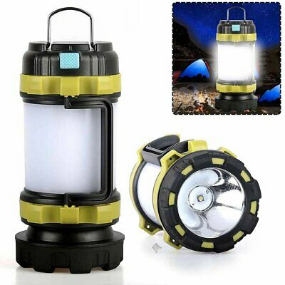 AU10.90 • Buy Portable LED Camping Lantern USB Rechargeable Outdoor Tent Lamp Hand Torch Light