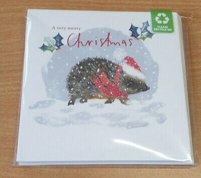 One Pack Of 10 Charity Christmas Cards - Winter Hedgehog 🎄  • 3£