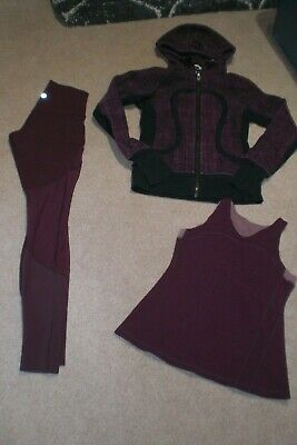 $ CDN76 • Buy  Lot Of Rare Lululemon Tights, Limited Edition Hoodie And Tank Sz 4