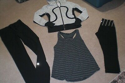 $ CDN68 • Buy  Lot Of Lululemon Will Pants, Crops, Limited Edition Hoodie And Tank Sz 4