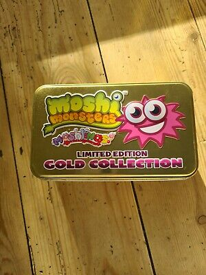 £15 • Buy Moshi Monsters Moshlings Limited Edition Gold Collection Tin + 8 Monsters