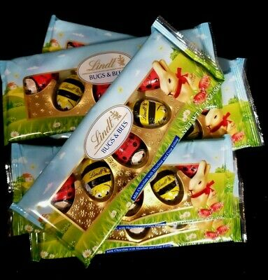 Lindt Bugs And Bees Milk Chocolate With Hazelnut And Crisp Filling , 6 Packs • 2.90£