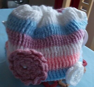 £15 • Buy Handmade Crochet Tea Cosy With Flowers And Double Layers