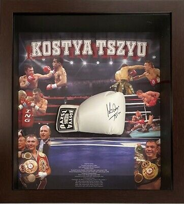 AU799 • Buy KOSTYA TSZYU Autograph Signed Boxing Glove FRAMED COA Proof