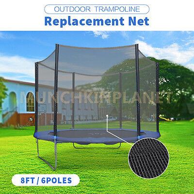 AU47.99 • Buy OutdoorTrampoline Toys Replacement Safety Net Enclosure 8/10/12ft Choice