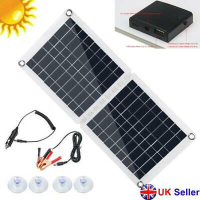 £20.39 • Buy 30W Portable Foldable Polycrystalline USB Solar Panel Kit 10A Connector Charger
