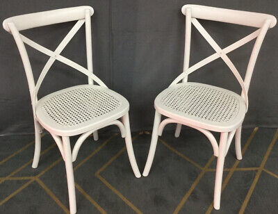 (C&C) Set Of White Ornate Style Chairs • 49.99£
