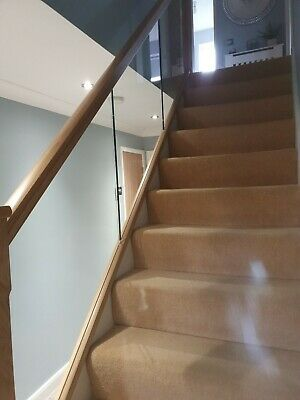 Glass Stair Panels/Balustrade 10mm Safety Glass X 3 Panels • 250£