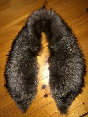 £42.99 • Buy STUNNING LARGE VINTAGE 92cm 16inch REAL SILVER FOX FUR STOLE SCARF QUALITY