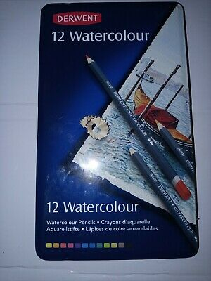 Derwent Watercolour Pencils .  Brand New . Sealed Tin Of 12 Quality Pencils • 7.50£