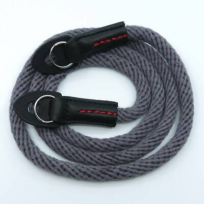 Grey Woven Cotton Rope Camera Strap With Ring Connection By Cam-in (95cm) • 17.99£