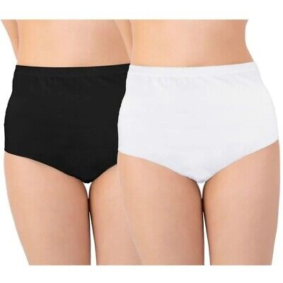£9.99 • Buy Womens Ladies 100% Cotton INCONTINENCE Pants WASHABLE WITH PAD Briefs Knickers