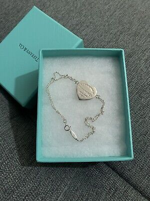 Authentic Tiffany & Co Heart Tag Double Chain Bracelet. RRP £165 • 95£