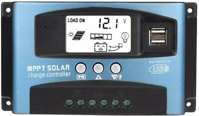 MPPT 50A Solar Charge Controller Dual USB LCD Display 12V 24V(50A)... • 48.90£