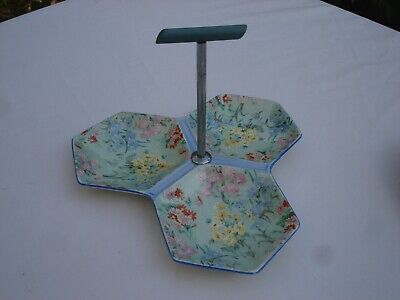 Shelley Chintz Melody Art Deco Pickle Server • 35£